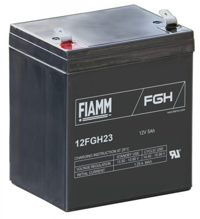 FIAMM 12FGH23 12V 5Ah Nagy kisütőáramú ipari zárt (zselés) ólomakkumulátor