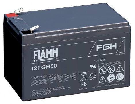 FIAMM 12FGH50 12V 12Ah  Nagy kisütőáramú ipari zárt (zselés) ólomakkumulátor