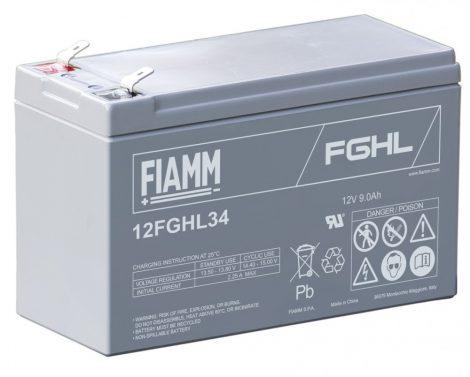 FIAMM 12FGHL34 12V 9Ah Nagy kisütőáramú ipari zárt (zselés) ólomakkumulátor