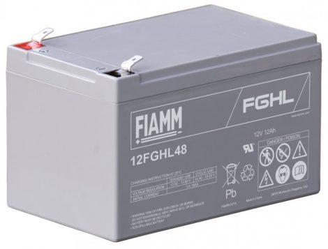 FIAMM 12FGHL48 12V 12Ah Nagy kisütőáramú ipari zárt (zselés) ólomakkumulátor