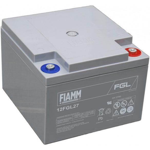 FIAMM 12FGL27 12V 27Ah Ipari zárt (zselés) ólomakkumulátor