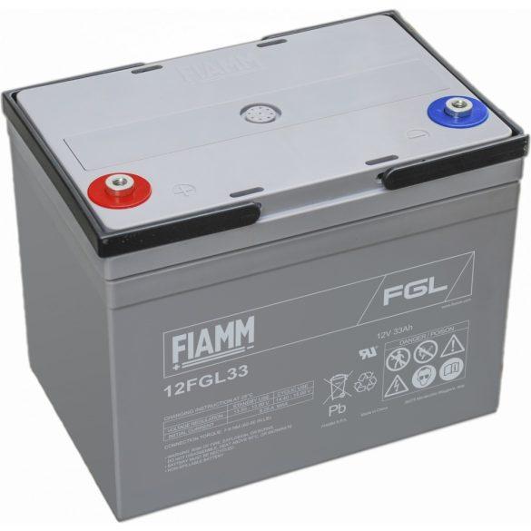 FIAMM 12FGL33 12V 33Ah Ipari zárt (zselés) ólomakkumulátor