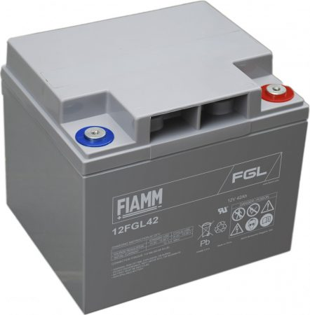 FIAMM 12FGL42 12V 42Ah Ipari zárt (zselés) ólomakkumulátor