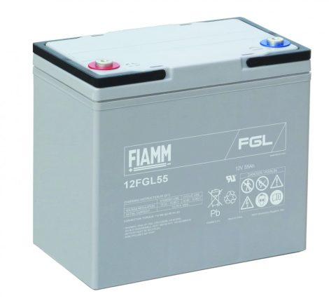 FIAMM 12FGL55 12V 55Ah Ipari zárt (zselés) ólomakkumulátor