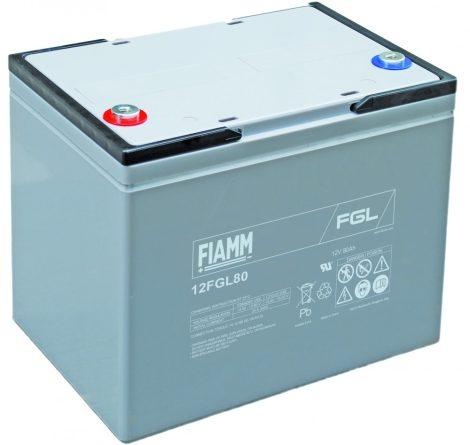 FIAMM 12FGL80 12V 80Ah Ipari zárt (zselés) ólomakkumulátor