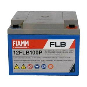 FIAMM 12FLB100P 12V 26Ah Nagy kisütőáramú tűzálló ipari zárt (zselés) ólomakkumulátor