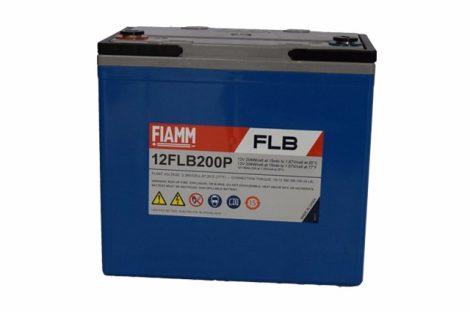FIAMM 12FLB200P 12V 55Ah Nagy kisütőáramú tűzálló ipari zárt (zselés) ólomakkumulátor