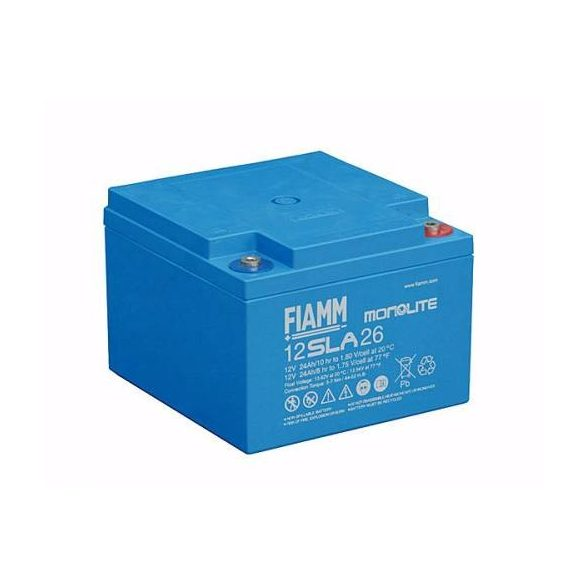 FIAMM 12SLA26 12V 24Ah  Tűzálló ipari zárt (zselés) ólomakkumulátor