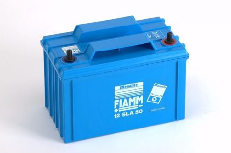 FIAMM 12SLA50L 12V 50Ah ipari zárt (zselés) ólomakkumulátor