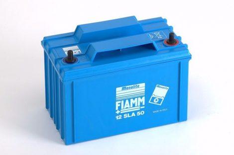 FIAMM 12SLA50L 12V 50Ah  Tűzálló ipari zárt (zselés) ólomakkumulátor