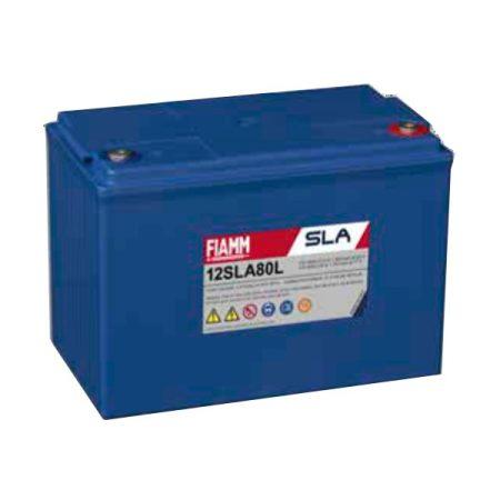 FIAMM 12SLA80L 12V 80Ah ipari zárt (zselés) ólomakkumulátor