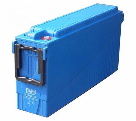 FIAMM 12SMG100 12V 100Ah Front terminal páncéllemezes ciklikus zselés ólomakkumulátor