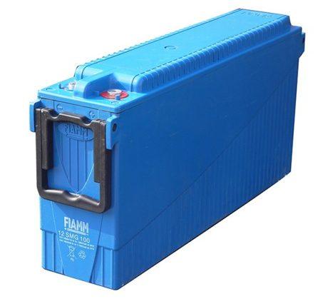 FIAMM 12SMG130 12V 130Ah Front terminal páncéllemezes ciklikus zselés ólomakkumulátor