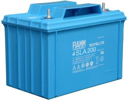 FIAMM 4SLA200 4V 200Ah ipari zárt (zselés) ólomakkumulátor