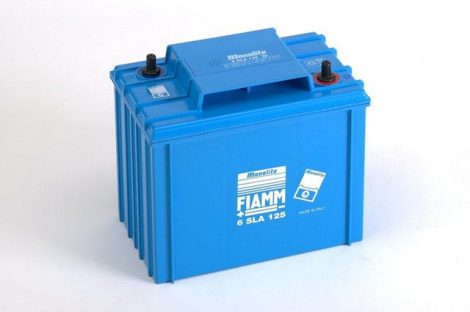 FIAMM 6SLA125 6V 125Ah ipari zárt (zselés) ólomakkumulátor