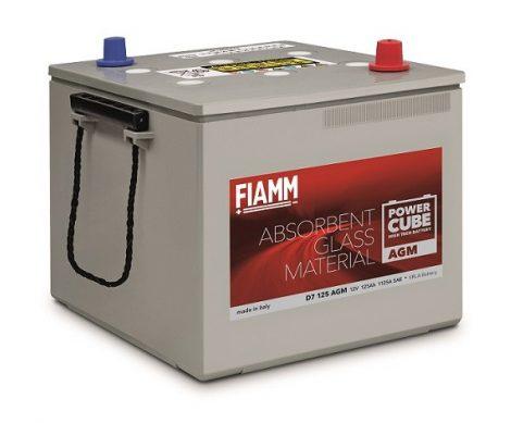 FIAMM POWERCUBE AGM D7 125 AGM 125Ah 1000A  teherautó / munka akkumulátor