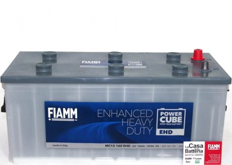 FIAMM POWERCUBE EHD MC15 160 EHD 160Ah 1050A  teherautó / munka akkumulátor