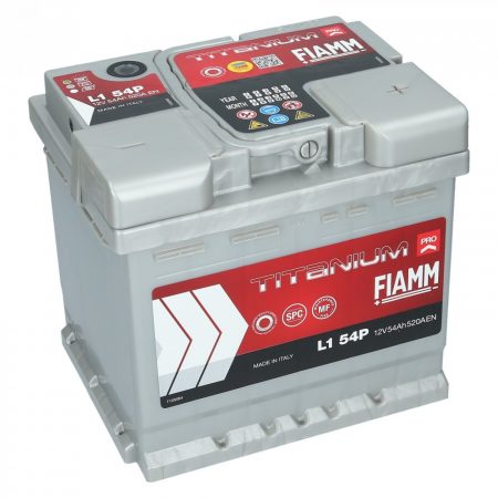 FIAMM TITANIUM PRO 54Ah 520A indítóakkumulátor