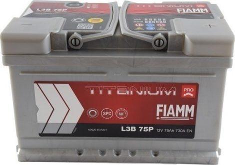 FIAMM TITANIUM PRO 75Ah 730A indítóakkumulátor