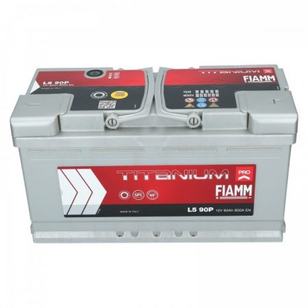 FIAMM TITANIUM PRO 90Ah 800A indítóakkumulátor