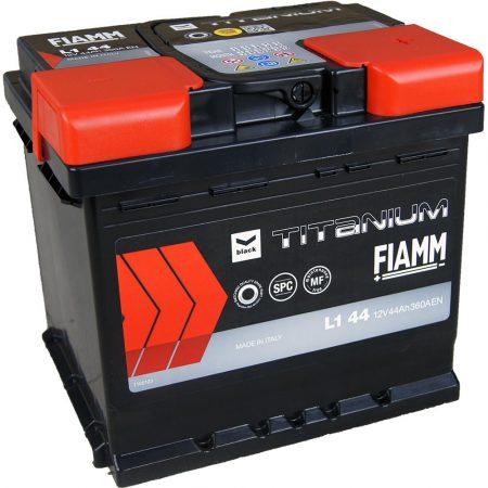 FIAMM black TITANIUM 44Ah 390A indítóakkumulátor