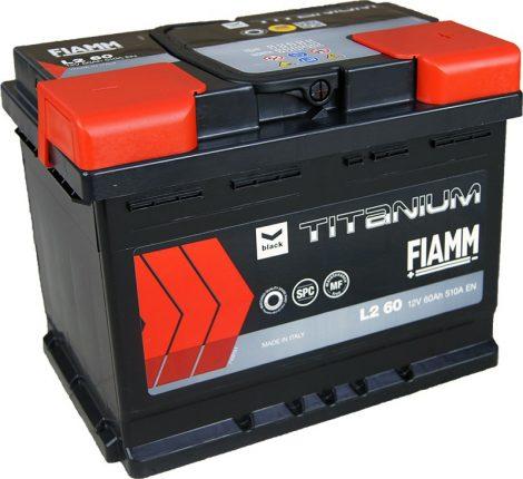 FIAMM black TITANIUM 60Ah 510A indítóakkumulátor