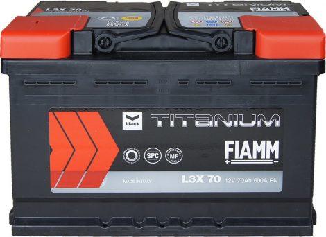 FIAMM black TITANIUM 70Ah 600A indítóakkumulátor