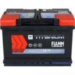 FIAMM black TITANIUM 74Ah 640A starter battery