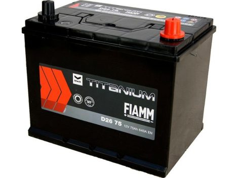 FIAMM black TITANIUM 75Ah 640A indítóakkumulátor