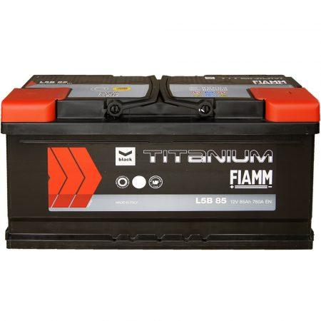 FIAMM black TITANIUM 85Ah 760A indítóakkumulátor