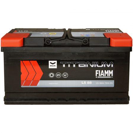 FIAMM black TITANIUM 88Ah 760A indítóakkumulátor