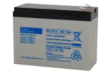 Cellpower CPC10-12 12V 10Ah ciklikus/szolár akkumulátor