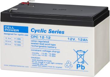 Cellpower CPC12-12 12V 12Ah ciklikus/szolár akkumulátor