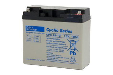 Cellpower CPC18-12 12V 18Ah ciklikus/szolár akkumulátor