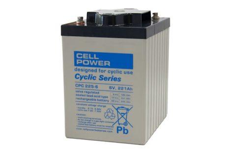 Cellpower CPC225-6 6V 225Ah ciklikus/szolár akkumulátor