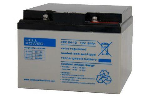 Cellpower CPC24-12 12V 24Ah ciklikus/szolár akkumulátor