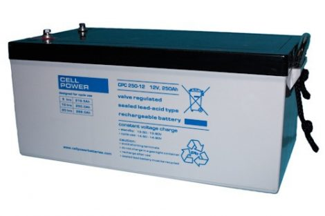 Cellpower CPC250-12 12V 250Ah ciklikus/szolár akkumulátor