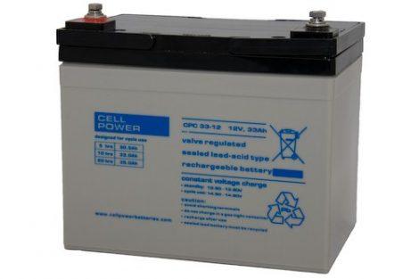 Cellpower CPC33-12 12V 33Ah ciklikus/szolár akkumulátor