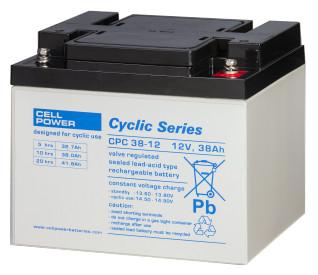 Cellpower CPC38-12 12V 38Ah ciklikus/szolár akkumulátor