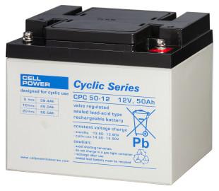 Cellpower CPC50-12 12V 50Ah ciklikus/szolár akkumulátor