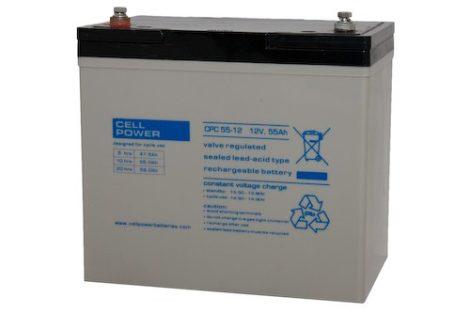 Cellpower CPC55-12 12V 55Ah ciklikus/szolár akkumulátor
