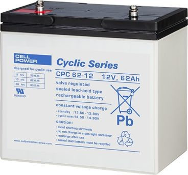 Cellpower CPC62-12 12V 62Ah ciklikus/szolár akkumulátor