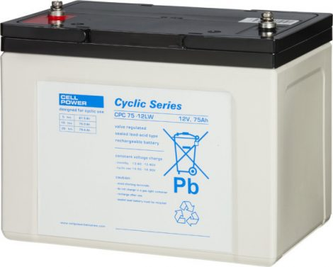 Cellpower CPC75-12 12V 75Ah ciklikus/szolár akkumulátor