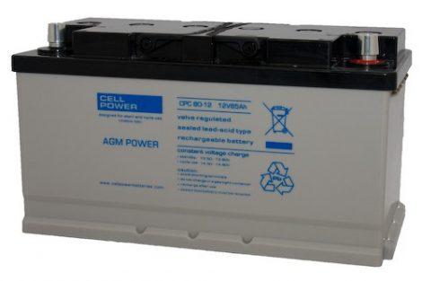 Cellpower CPC80-12AJ 12V 80Ah ciklikus/szolár akkumulátor