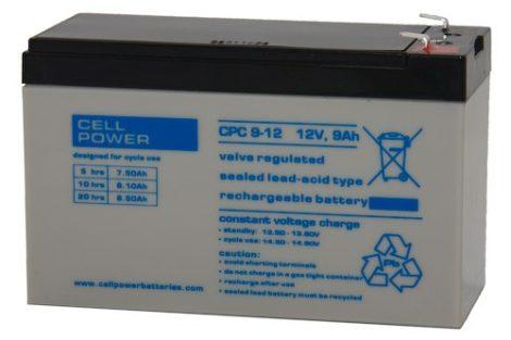 Cellpower CPC9-12 12V 9Ah ciklikus/szolár akkumulátor