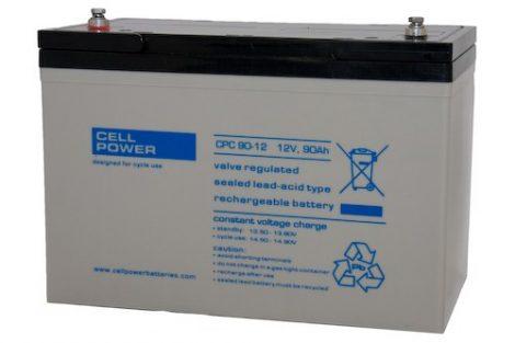 Cellpower CPC90-12 12V 90Ah ciklikus/szolár akkumulátor