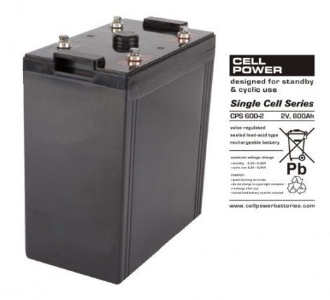 Cellpower CPS600-2 2V 600Ah ciklikus/szolár akkumulátor