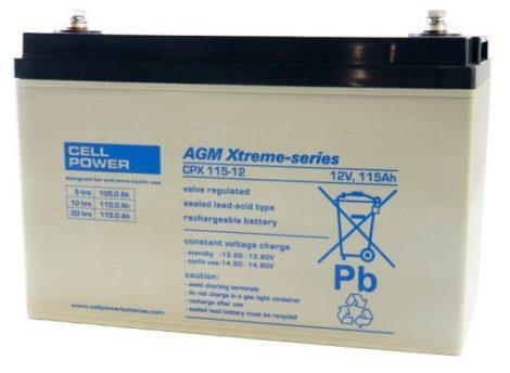 Cellpower CPX115-12 12V 115Ah ciklikus/szolár akkumulátor