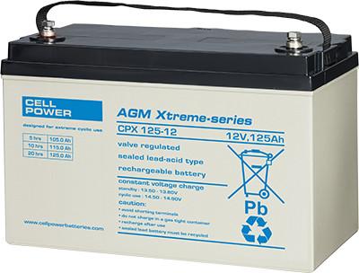 Cellpower CPX125-12 12V 125Ah ciklikus/szolár akkumulátor