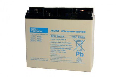 Cellpower CPX20-12 12V 20Ah ciklikus/szolár akkumulátor